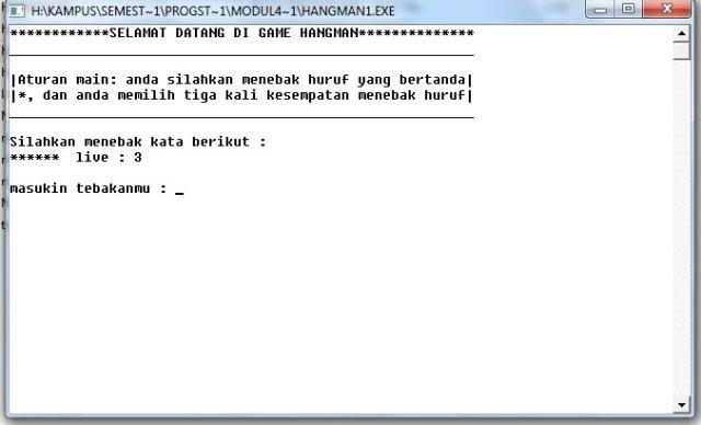 output game hangman sederhana dengan bahasa C - neezasty.wordpress.com