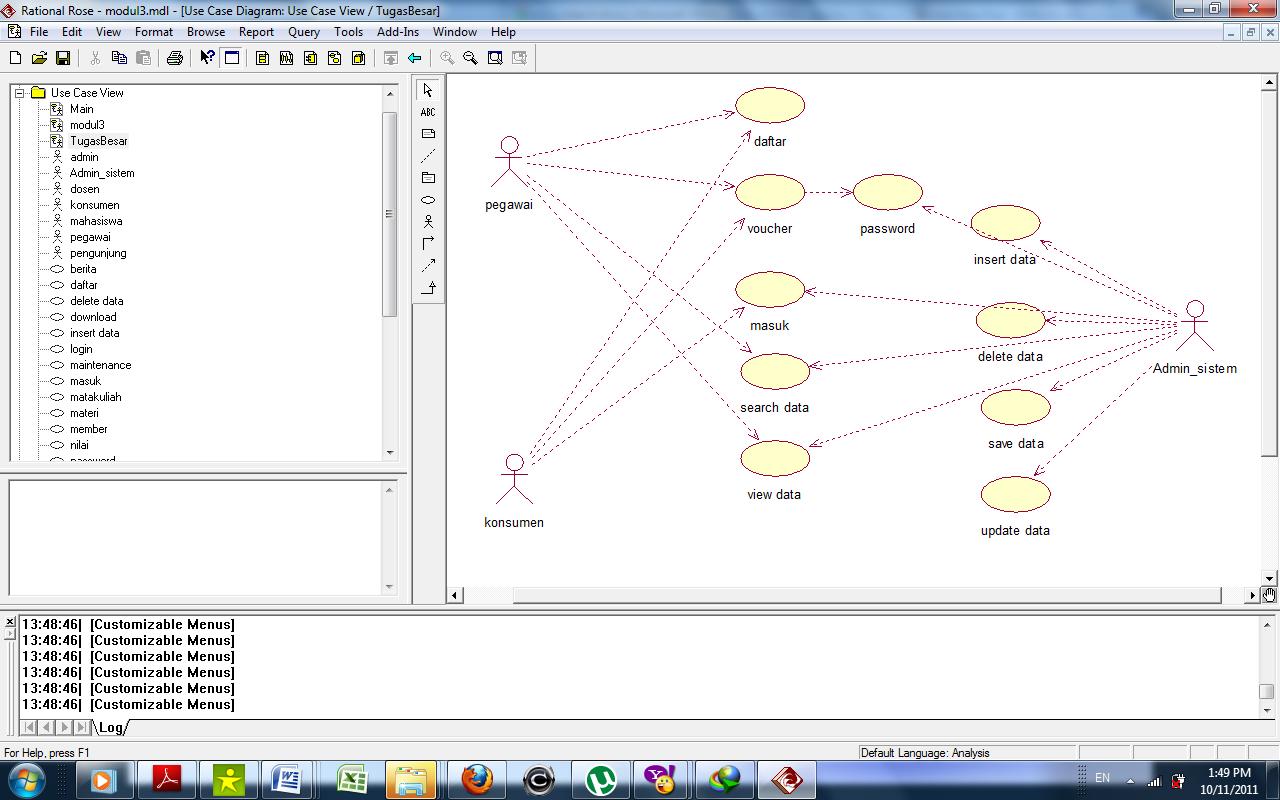 Contoh Usecase Diagram Aplikasi Perpustakaan Kejar Koding