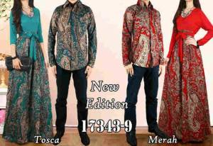 @180rb Maxi baletto+kemeja Couple batik LD114 P140 cow LD 104 P 67 Fit To L besar.