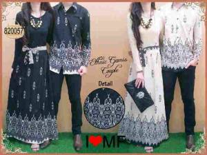 Maxi rayon couple kombi kaus korea @180rb fit L